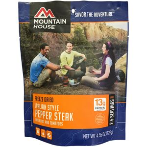 Mountain House Italian Style Pepper Steak - 2.5 Serving Entree