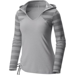 Mountain Hardwear DrySpun Burnout Hooded Shirt - Long-Sleeve - Women's