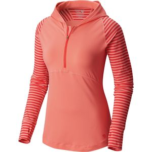 Mountain Hardwear Butterlicious Stripe Hooded Shirt - Women's