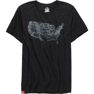 Meridian Line USA Parks Maps T-Shirt - Short-Sleeve - Men's