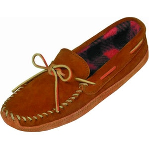 Minnetonka Double Bottom Fleece Slipper - Men's