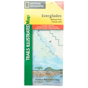 photo: National Geographic Everglades National Park Map us south paper map