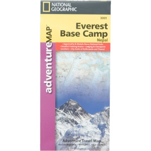 photo: National Geographic Everest Base Camp Adventure Map international paper map