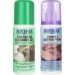 Nikwax Fabric/Leather Proof and Cleaning Gel Duo-Pack - 125mL Spray