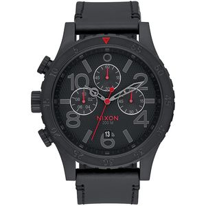 Nixon Infared 48-20 Chrono Leather Watch