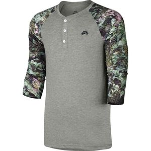 Nike SB Dri-Fit Fern Henley Crew - 3/4-Sleeve - Men's