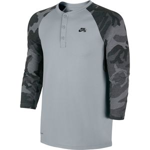 Nike SB Camo Henley Shirt - 3/4-Sleeve - Men's