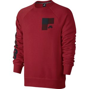 Nike SB Icon Buffalo Plaid Fleece Crew Sweatshirt - Men's
