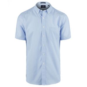 New England Shirt Company Light Chambray Solid Shirt - Short-Sleeve - Men's