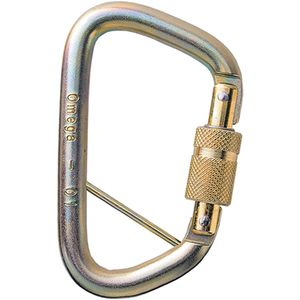 Omega Pacific 7/16in Steel Modified D Carabiner