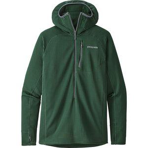 파타고니아 Patagonia R1 Hooded Fleece Pullover - 1/2-Zip - Mens