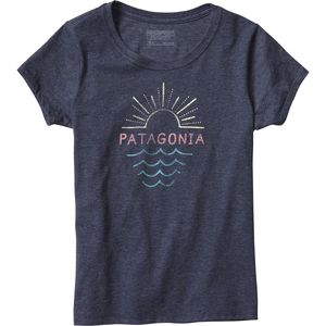 Patagonia Graphic Cotton/Poly T-Shirt - Short-Sleeve - Girls'