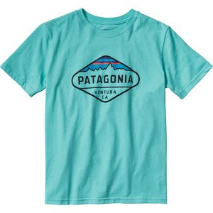 Patagonia Fitz Roy Crest Cotton/Poly T-Shirt - Short-Sleeve - Boys'