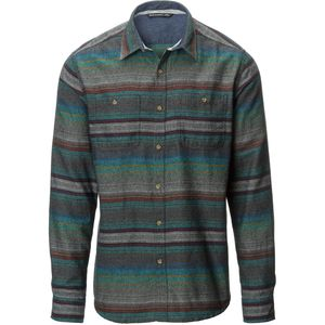 Siphon Mock Striped Hombre Flannel Shirt - Men's