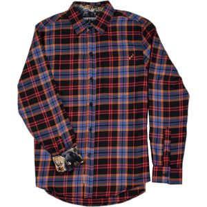 Pladra Elli Burnt Black Flannel Shirt - Men's