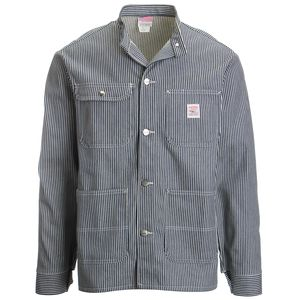 Pointer Brand Hickory Stripe Banded Collar Jacket - Men's