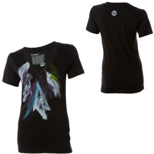 Roxy Feathery Goodness V-Neck T-Shirt - Short-Sleeve - Womens