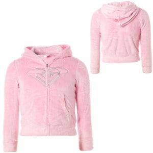Roxy Fuzzy Bear Full-Zip Hooded Sweatshirt - Little Girls