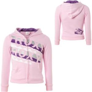 Roxy Secret Agent Full-Zip Hooded Sweatshirt - Little Girls