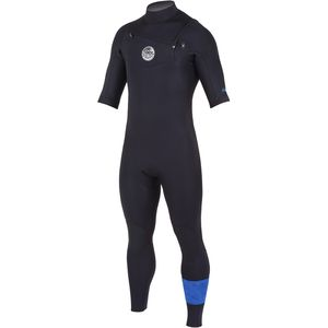 Rip Curl Aggrolite Chest-Zip Short-Sleeve Wetsuit - Men's