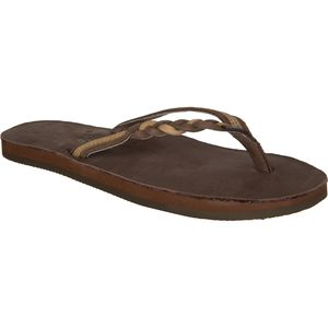 Rainbow Flirty Braidy Premier Leather Flip Flop - Women's