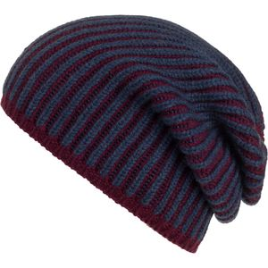 Rosie Sugden Two Tone Ribbed Cashmere Beanie - Women's