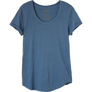 RVCA Label Scoop Neck T-Shirt - Short-Sleeve - Women's