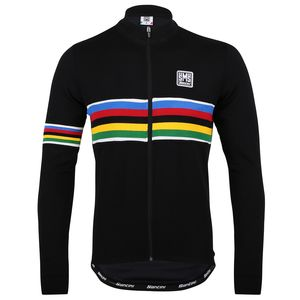 Santini UCI Rainbow Jersey - Long Sleeve - Men's