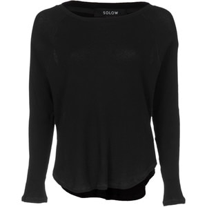Solow Pointelle Thermal Oversized Dolman Shirt - Long-Sleeve - Women's