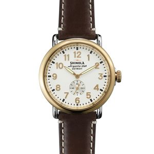 Shinola Runwell 41mm Leather Watch