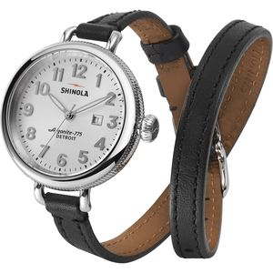 Shinola Birdy 34mm Leather Watch -  Women's