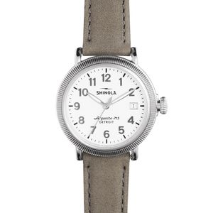 Shinola Runwell Coin Edge 38mm Leather Watch
