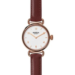 Shinola Canfield 32mm Leather Watch - Women's