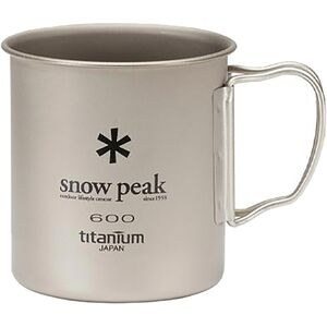 Snow Peak Titanium Single Wall Cup 600