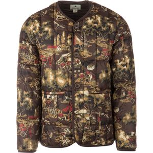Snow Peak Camp Field Printed Down Cardigan - Men's