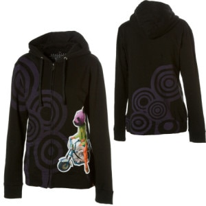 Spacecraft Panda Fox Full-Zip Hooded Sweatshirt - Womens