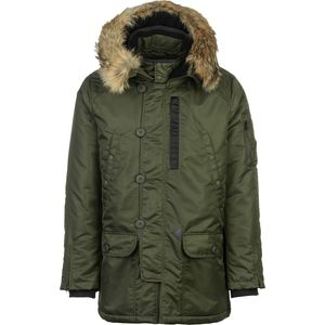 SPIEWAK N3-B Flight Satin Parka with Real Fur - Men's