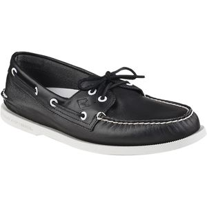 Sperry Top-Sider A/O 2-Eye White/Black Shoe - Men's