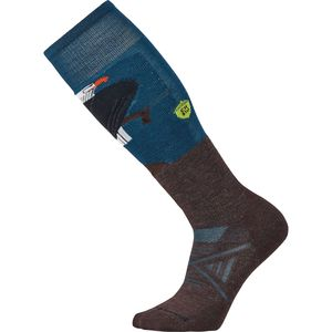 SmartWool Phd Ski Medium Charley Harper Glacial Bay Eagle Sock