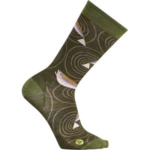 SmartWool Charley Harper Rocky Mountain Fish Crew Sock