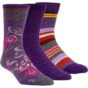 SmartWool Trio 3 Sock - 3-Pack - Women's