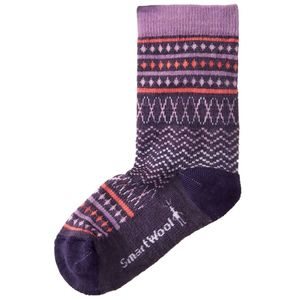 SmartWool Diamond Flush Crew Sock - Girls'