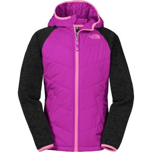 The North Face Quilted Sweater Fleece Hoodie - Girls'