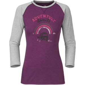 The North Face Adventure Awaits T-Shirt - 3/4-Sleeve - Women's