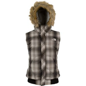The North Face Furallure Plaid Down Vest - Womens