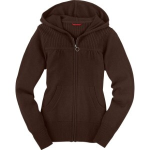 The North Face Radiance Rib Full-Zip Hooded Sweater - Womens