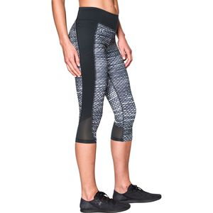 Under Armour Fly-By Printed Run Capri - Women's