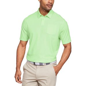 언더아머 Under Armour Charged Cotton Scramble Polo Shirt - Mens