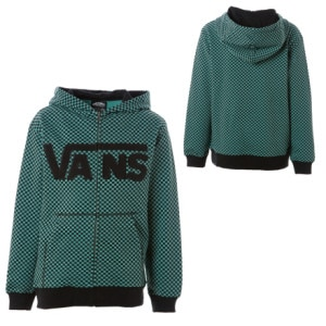 Vans Checkerboard Full-Zip Hooded Sweatshirt - Boys