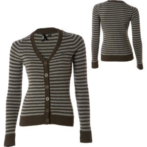 Vans Stripe Button-Up Cardigan Sweater - Womens